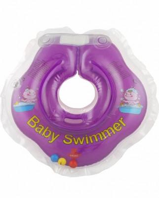 ***BABY SWIMMER` круг на шею для купания с погремушкой