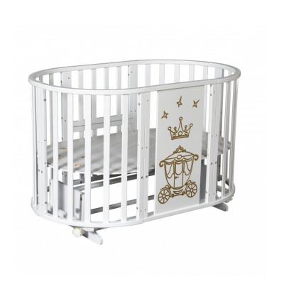 АНТЕЛ` СЕВЕРЯНКА-3 КОРОНА кроватка круглая 6в1 (маятник поперечный, колесо)