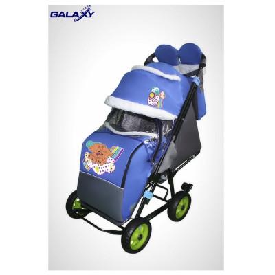 GALAXY` CITY 1 санки коляска (колёса EVA)