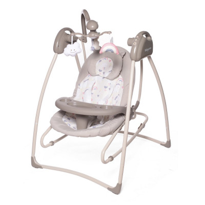 BABY CARE` BUTERRFLY электрокачели 2в1