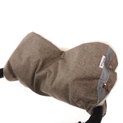 ***PITUSO` МУФТА на коляску шерстяной мех + плащевка меланж