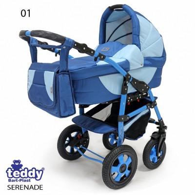 TEDDY` SERENADE PCO-F коляска модульная 3в1