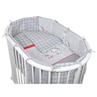 PITUSO` ЗЕБРА комплект в овальную кроватку (6пр)