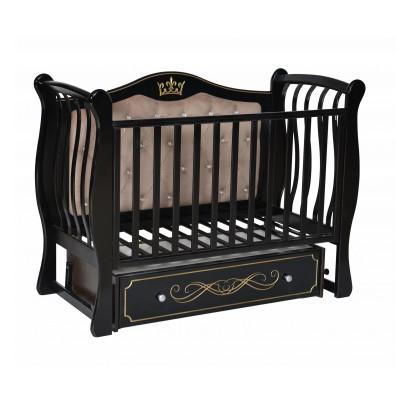 АНТЕЛ` LUIZA 333 SOFT кроватка (с мягкой стенкой, маятник универсальный, ящик закрытый)